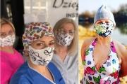 Wzięta projektantka mody z Sadyby rusza z pomocą – zamiast sukienek robi maseczki